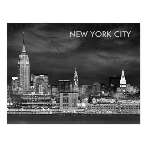 Postal del horizonte de New York City