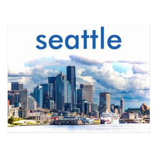 Postal del horizonte de Seattle