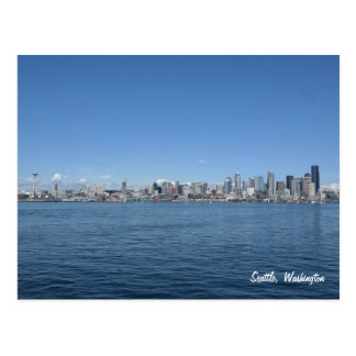 Postal del horizonte de Seattle Washington