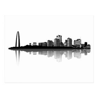 Postal del horizonte de St. Louis (b/w)