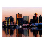 Postal del horizonte de Vancouver