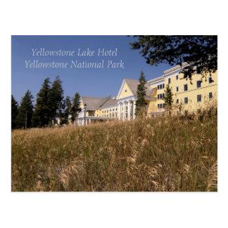 Postal del hotel del lago Yellowstone