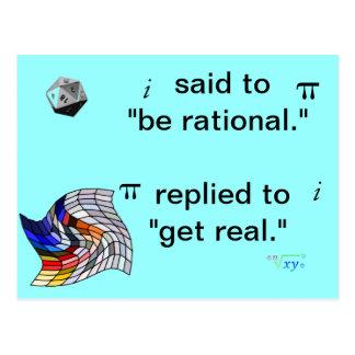 Postal del humor de la matemáticas