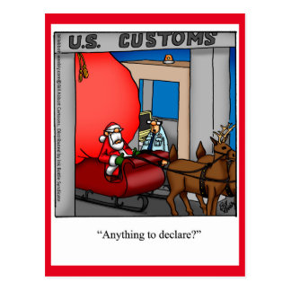 Postal del humor de Santa del navidad