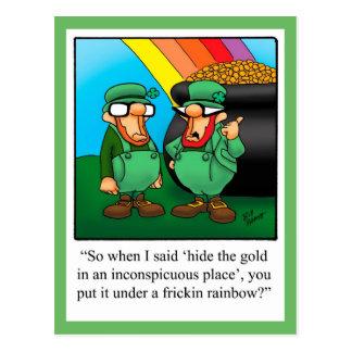 Postal del humor del día de St Patrick divertido