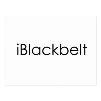 Postal del iBlackbelt de los artes marciales