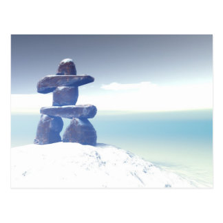 Postal del inukshuk del invierno