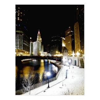 Postal del invierno de Chicago