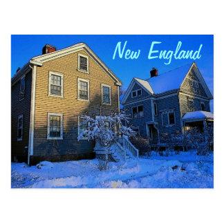 Postal del invierno de Nueva Inglaterra
