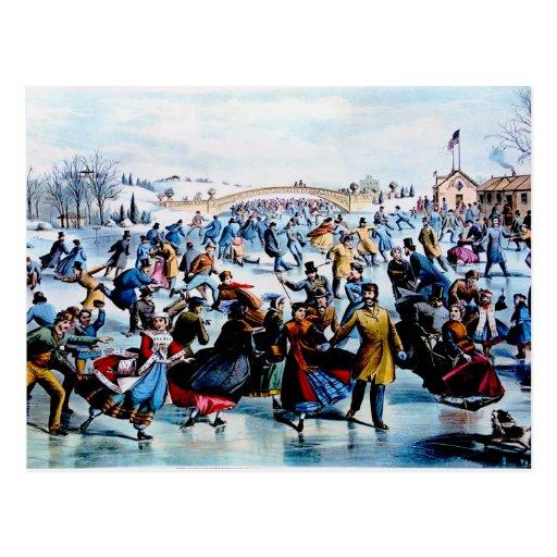 Postal del invierno del Central Park