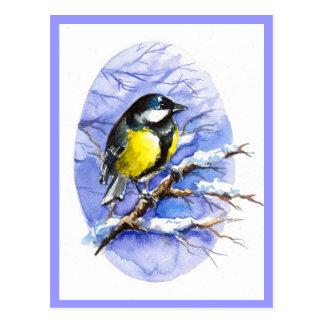 Postal del invierno del Chickadee