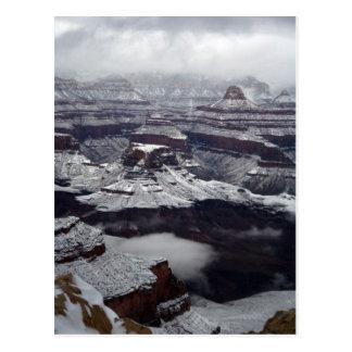 Postal del invierno del parque nacional del Gran