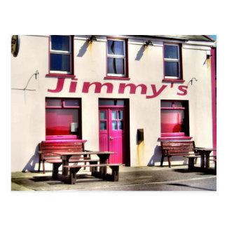 Postal del irlandés del Pub de Jimmy