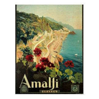 Postal del italiano del vintage de Amalfi