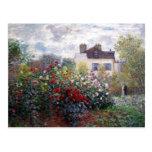 Postal del jardín de Claude Monet