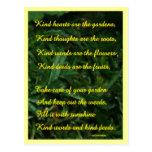 Postal del jardín de la amabilidad