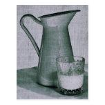 postal del jarro de leche