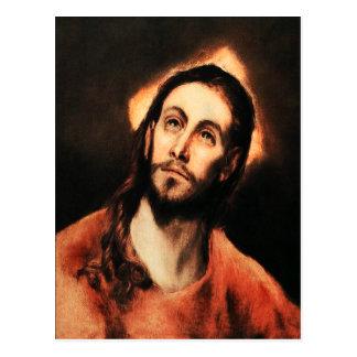 Postal del Jesucristo de El Greco