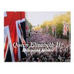 Postal del jubileo de diamante de la reina Elizabe