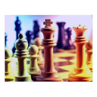 Postal del juego de ajedrez