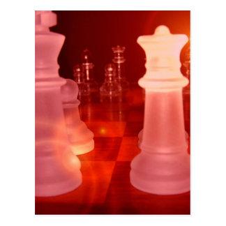 Postal del juego del ajedrez