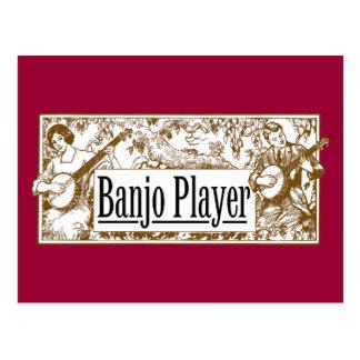 Postal del jugador del banjo