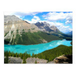 Postal del lago mountains rocosas