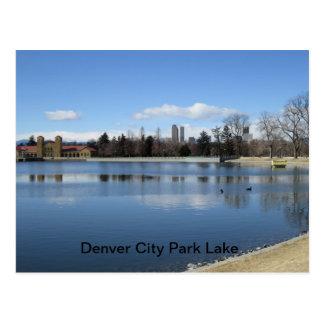 Postal del lago park de la ciudad de Denver
