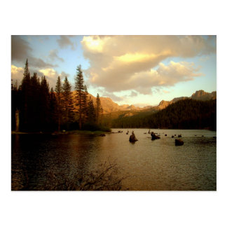 Postal del lago sunset