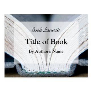 Postal del lanzamiento del libro