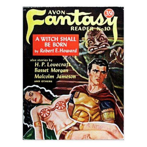 Postal del lector de la fantasía de Avon