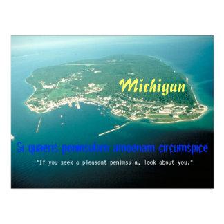 Postal del lema del estado de Michigan