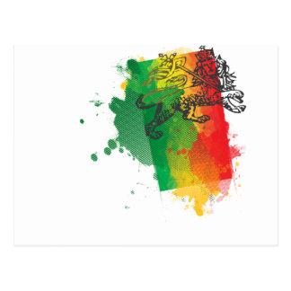 Postal del león de Jamaica Zion