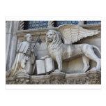 Postal del león de Venecia