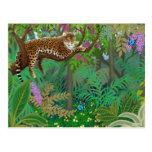 Postal del leopardo de la selva