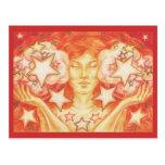 Postal del libra del zodiaco
