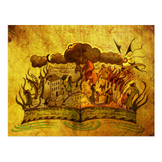 """Postal del libro de """"Jane Eyre"""""""