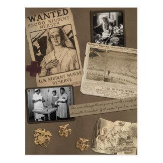 Postal del libro de recuerdos del oficio de enfer