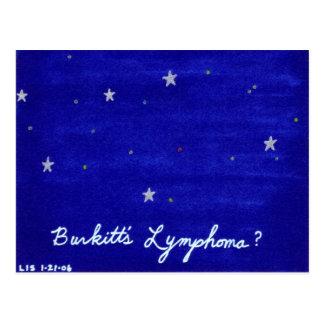 Postal del linfoma de Burkitt
