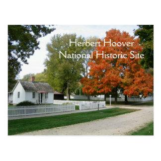 Postal del lugar de nacimiento de Herbert Hoover