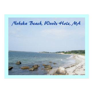 Postal del mA del agujero de maderas de la playa d