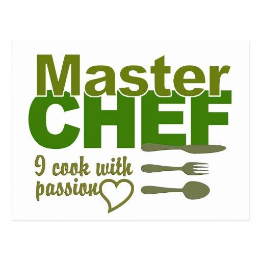 Postal del maestro cocinero