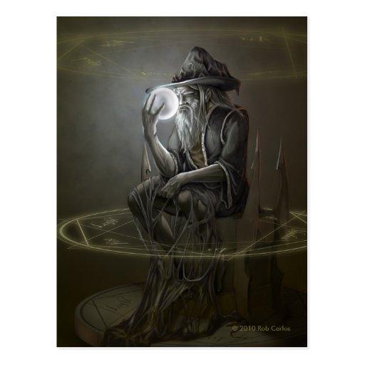Postal del mago del pensador