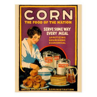 Postal del maíz del vintage de los E.E.U.U.