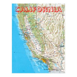 Postal del mapa de California