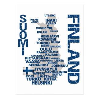 Postal del MAPA de FINLANDIA