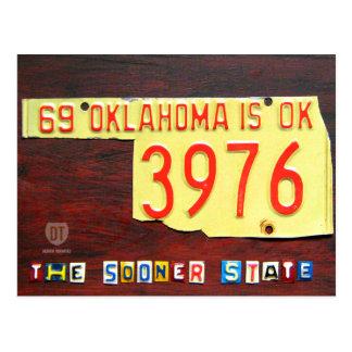 Postal del mapa de la placa de Oklahoma