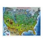 Postal del mapa Z de los E.E.U.U.
