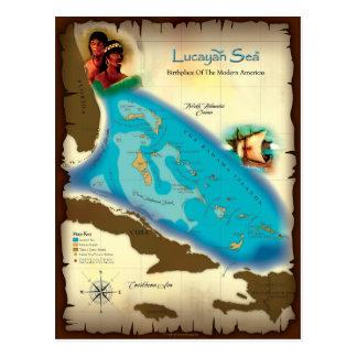 Postal del mar de Lucayan