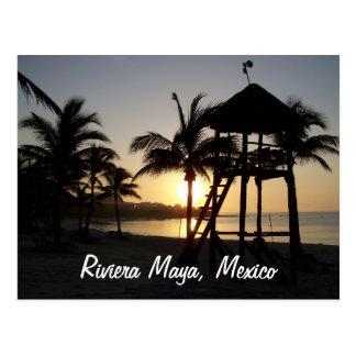 Postal del mar del Caribe de Cancun México del